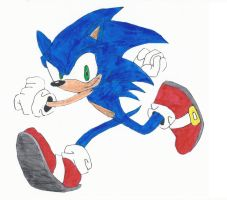 Sonic the Hedgehog Marker Drawing by SilverPlays97