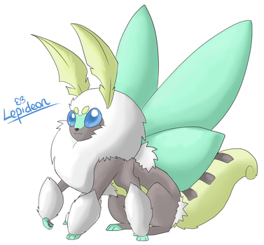 Eeveeloution: Bug-Type Lepideon by Galefaux