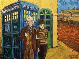 doctor who meets van gogh by Draculasaurus