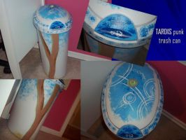 TARDIS punk~Trash Can by DragonsAndDreamscape