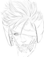 Metal Gear Rising Revengeance Raiden Outlines by Die1991