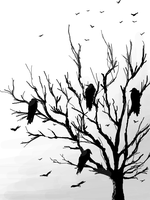 Crows Tree by BLACK-CROWN