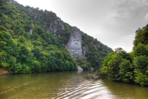 Rock sculpture of Decebalus, king of the Dacians. by rocz91