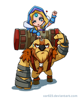 Earthshaker and Crystal Maiden by XaR623