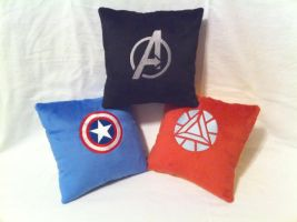 Avengers plush pillows by PlanetPlush