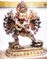 Yamantaka the Wrathful Manjusri Wanshou Si by davidmcb