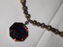 Violet Gem Neckalce Closeup 2 by Windthin
