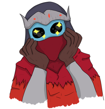 Hyper Light Drifter - Happy, eyes sparkling by TheCuddlyRoman