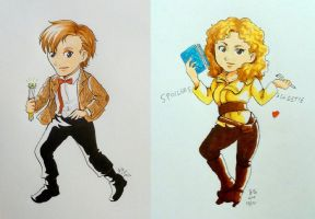 DW: 11 and River chibis by rain-and-sunshine