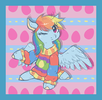 Easter sweater Dashie by Keep-Yourself-Alive