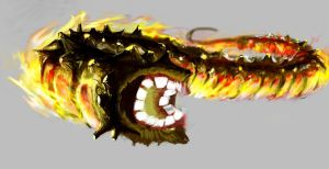 Fire Worm by skeithph1