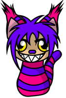 Cheshire kitty in vector by kungfudemoness