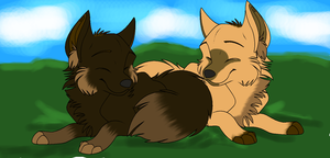 Our pups by BehindClosedEyes00