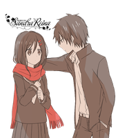 [Render #43] Shintaro Kisaragi and Ayano Tateyama by sandrareina