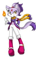 Blaze the cat my random redesign by queenmafdet