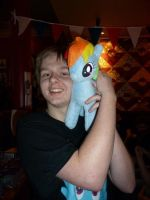 Me and Rainbow Dash :D by danspy1994