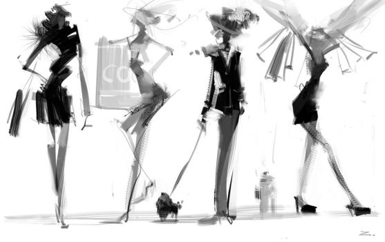 Fashion Sketch by zhuzhu
