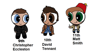 9th, 10th, And 11th Doctors As Ppg by ColourSharp