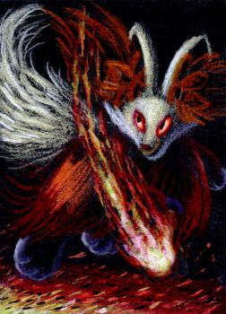 Delphox Gift ATC by FuzzyAcornIndustries