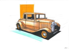 1932 Ford Coupe by RobertLaszloKiss