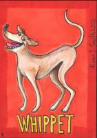 ACEO Dog 8: Whippet by ronnieraccoon