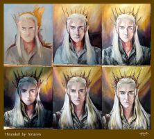 Portrait of Thranduil by Ainaven