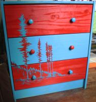 Lodgepole pine drawers by iscaylis