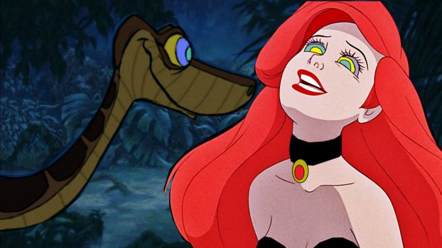 Slave Ariel and Kaa: Look Out by hypnotica2002