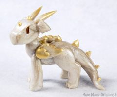 Angelic Clay Dragon by HowManyDragons