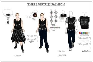 Bionicle three virtues fashion by Pearllight180