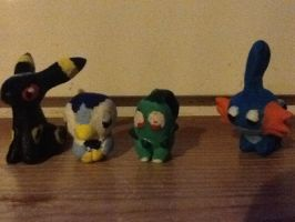 Clay pokemon figures!!! by Epicsquirtle
