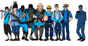 WIP - TF2 guys by SuperKusoKao