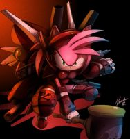 Amy rose +Future Warrior+ by ArchiveN