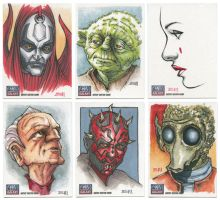 Star Wars Galaxy 7 Sketch Cards by Erik-Maell