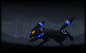 Umbreon, the night pokemon by Thunderwest
