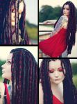 Full dreads shot =) by Lisa-Lowlife