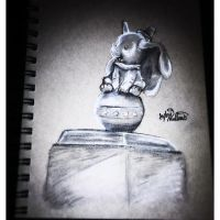 Little Dumbo Statue by SighVerbally
