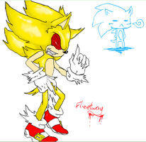 iScribble - Fleetway Sonic by BlueNeedle-Inu