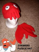 Zoidberg Fleece Hat by nikkiswimmer