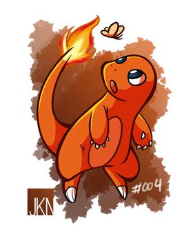 #004 Charmander by VeloursRose