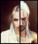 Ciri and Geralt - Make-Up Test by Leon and Jessica by LeonChiroCosplayArt