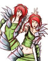 Warrior Twins by NickEdge