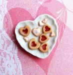 Heart Shaped Linzer Cookies by fairchildart