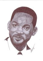 Will Smith Pen Portrait by Craig-Stannard