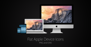 Flat Apple Device Icons (PNG and ICNS) by ccard3dev