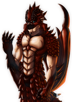 Monster Hunter - Anthropomorphic Rathalos by koyote974