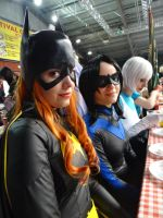 Batgirl and Nightwing - Mantova Comics 2014 by Groucho91