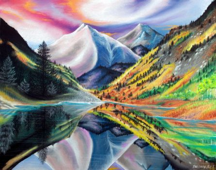 Colorado Love - Pastel Drawing by secrets-of-the-pen