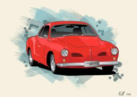 Karman Ghia by nellmckellar