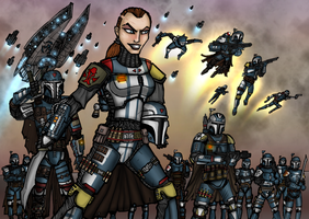 Mandalorian forces by AraxussYexyr
